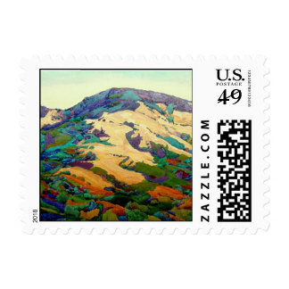 Twisted mountain postage