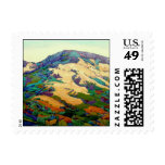 Twisted mountain postage stamp