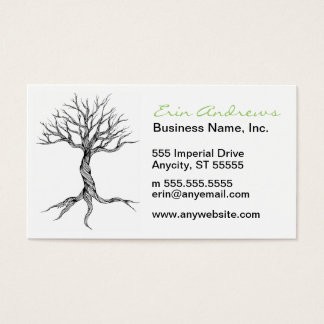 Twisted Old Tree custom business cards