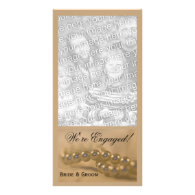 Twisted Pearls Engagement Announcement Photo Card