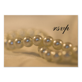 Twisted Pearls Wedding RSVP Response Card