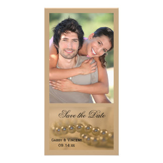 Twisted Pearls Wedding Save the Date Card