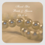 Twisted Pearls Wedding Thank You Stickers