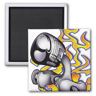 Twisted Piston 2 Inch Square Magnet