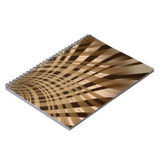 Twisted Plaid Brown Note Books