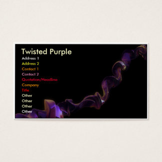 Twisted Purple Business Card