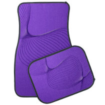 Twisted Purple Pain Signals Car Floor Mat