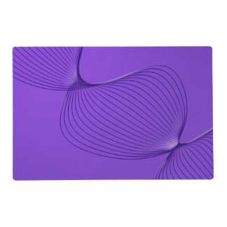 Twisted Purple Pain Signals Laminated Placemat