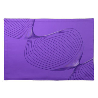Twisted Purple Pain Signals Cloth Placemat