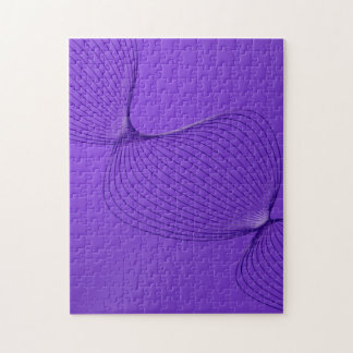 Twisted Purple Pain Signals Jigsaw Puzzle