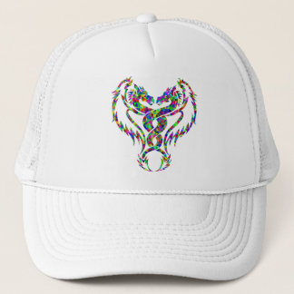 Twisted Rainbow Colored Dragons Prismatic Art Trucker Hat