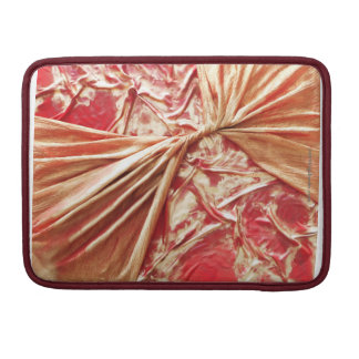 Twisted Red and Gold MacBook Pro Sleeve