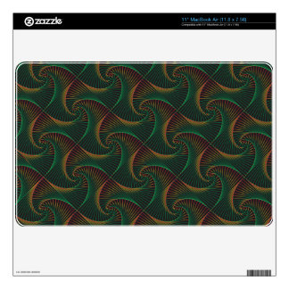 Twisted - Red & Green MacBook Skins