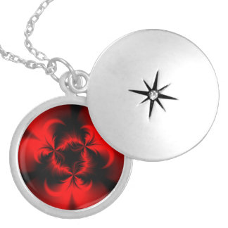 Twisted Red Silver Plated Necklace