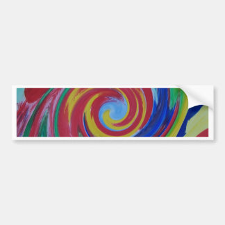 Twisted Red Swirl Abstract Bumper Sticker