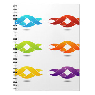 Twisted ribbon note books