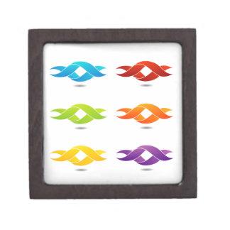 Twisted ribbon premium keepsake box