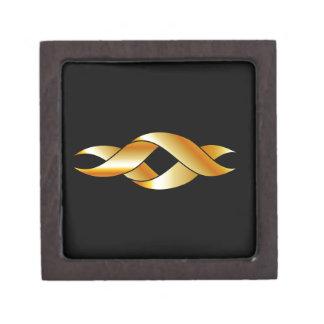 Twisted ribbon premium gift box