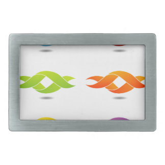 Twisted ribbon rectangular belt buckle