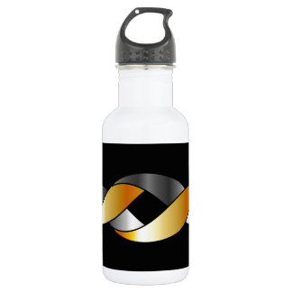 Twisted ribbon stainless steel water bottle