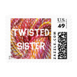 Twisted sister postage stamps
