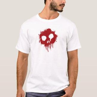 Twisted Skull Splatter Graffiti T-Shirt