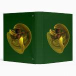 Twisted Snail -Gold Vinyl Binder
