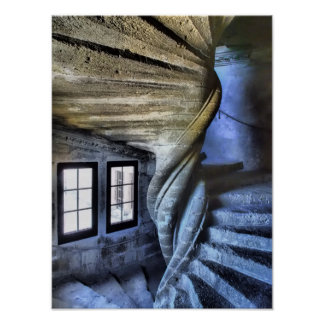 Twisted Spiral Staircase, France Poster