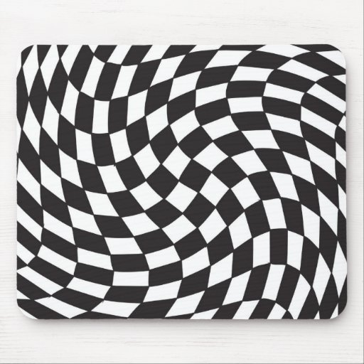 Twisted Tiles Mouse Pad