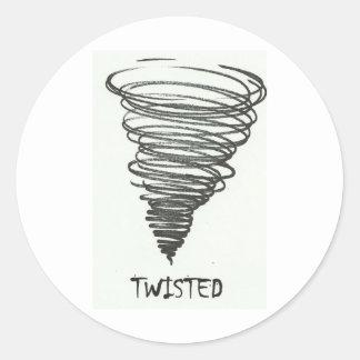 TWISTED TORNADO CLASSIC ROUND STICKER