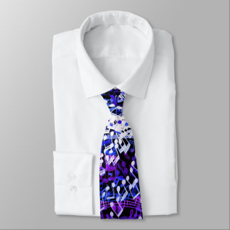 Twisted Tornado of Music Notes Tie