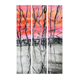 twisted trees1 canvas print