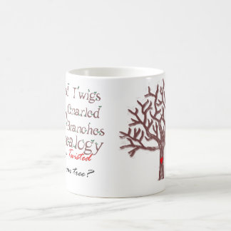 Twisted Twigs On Gnarled Branches Genealogy Mug