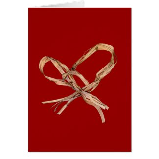 Twisted Twine Heart Red Card