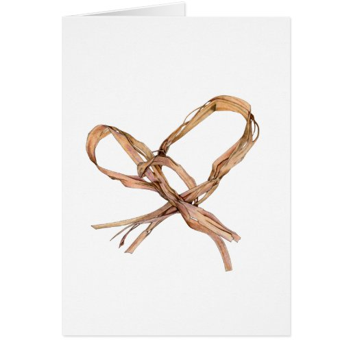 Twisted Twine Heart White Card