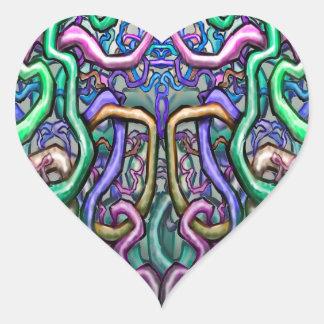 Twisted Vines Heart Sticker