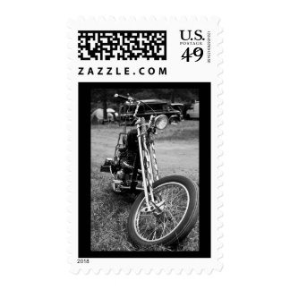 Twisted Vision - Triumph Chopper Postage Stamp
