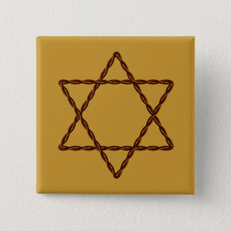 Twisted Wire Star of David Button
