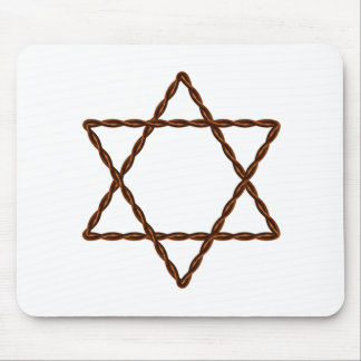 Twisted Wire Star of David Mouse Pad