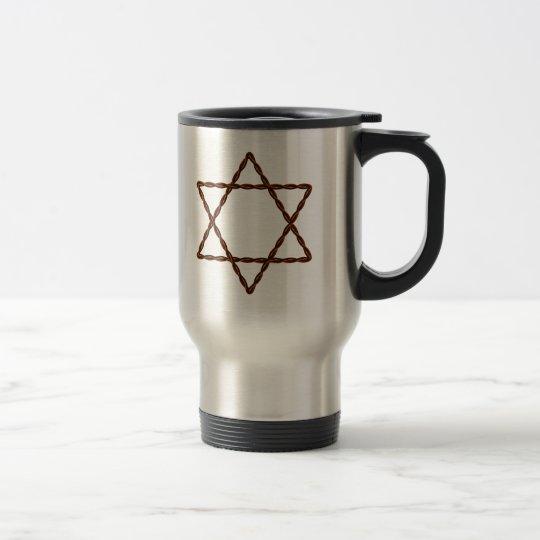 Twisted Wire Star of David Travel Mug