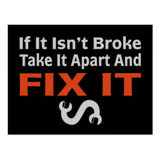 Twisted Wrench - FIX IT Postcard