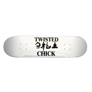 Twisted Yoga Chick Skateboard Deck