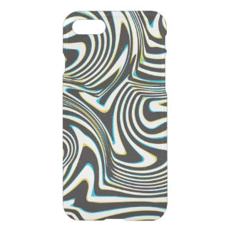 "Twisted zebra stripes pattern ""3d glass effect"" iPhone 7 case"