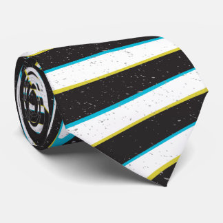"Twisted zebra stripes pattern ""3D glass effect"" Neck Tie"