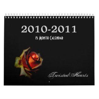 TwistedHearts, Calendar 2010-2011 (15 Months)