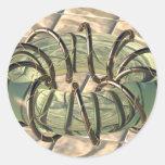 Twistedness toroidal etiqueta redonda