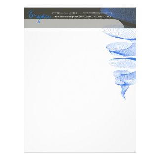 Twister Blue Modern Designer Template Letterhead
