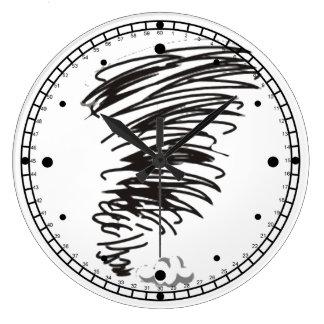 Twister Round Clock