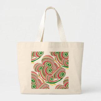Twister, digital art design jumbo tote bag