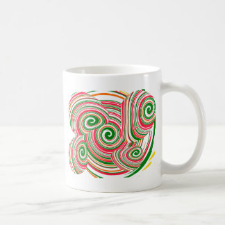 Twister, digital art design coffee mug
